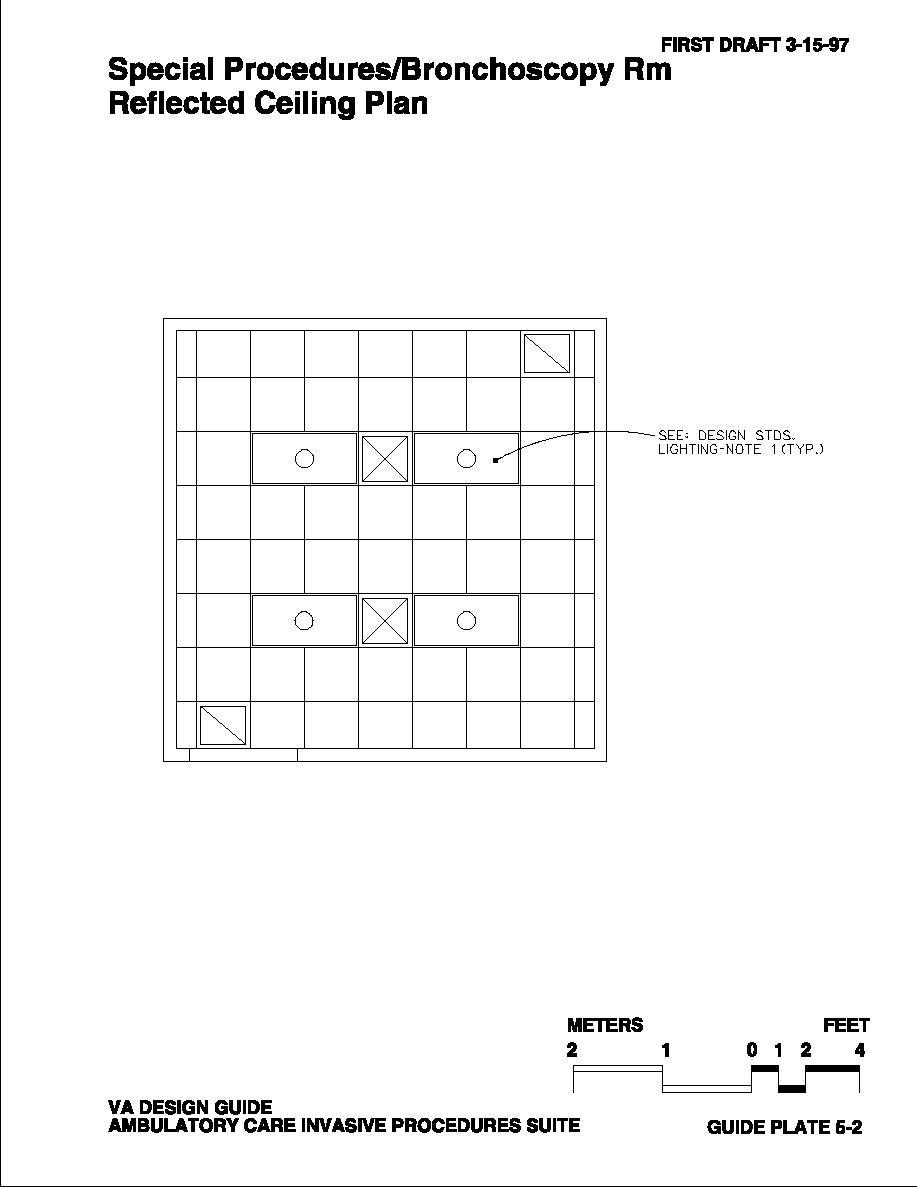 Bronchoscopy Room Design: Special Procedures/Bronchoscopy Rm Reflected Ceiling Plan