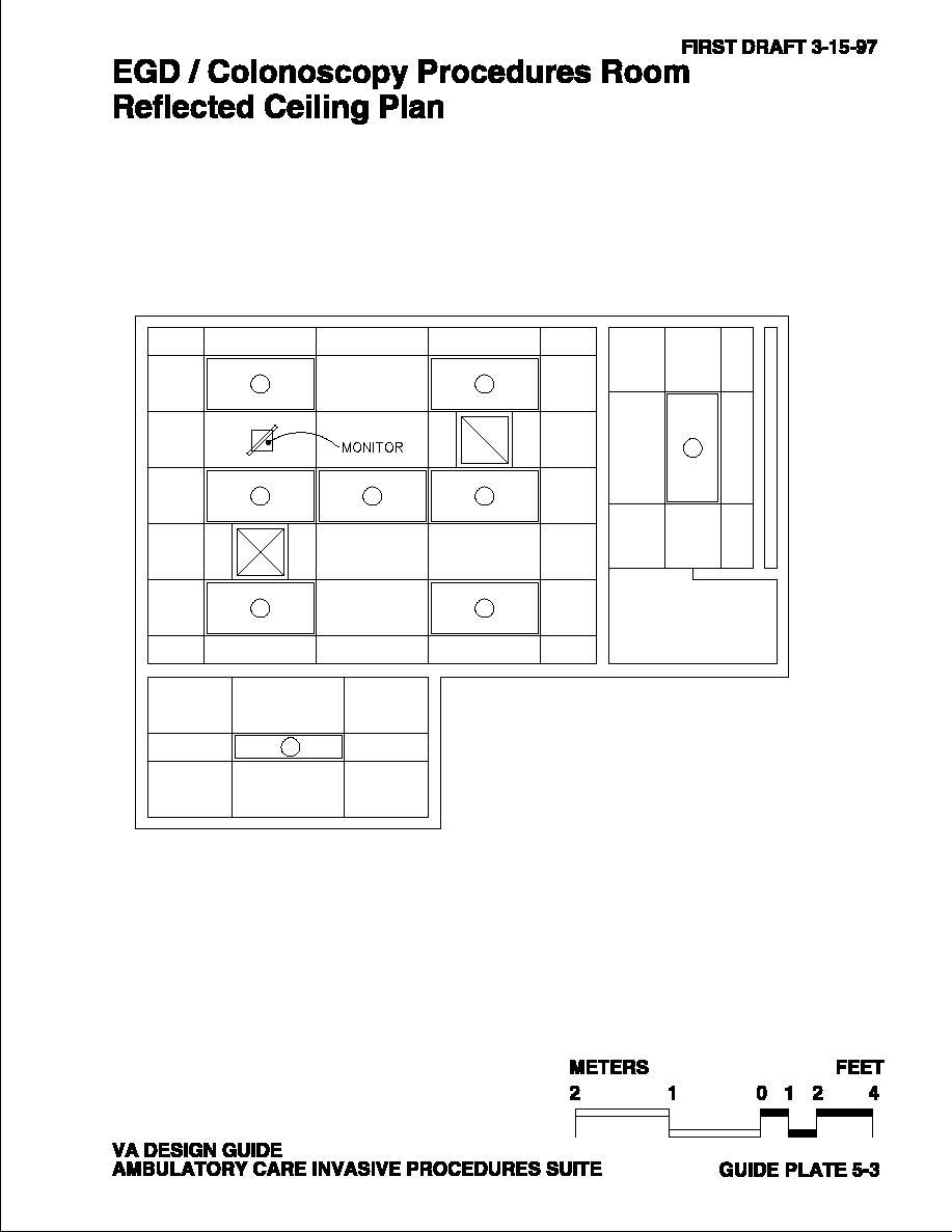 Colonoscopy Room: EGD/Colonoscopy Procedures Room Reflected Ceiling Plan