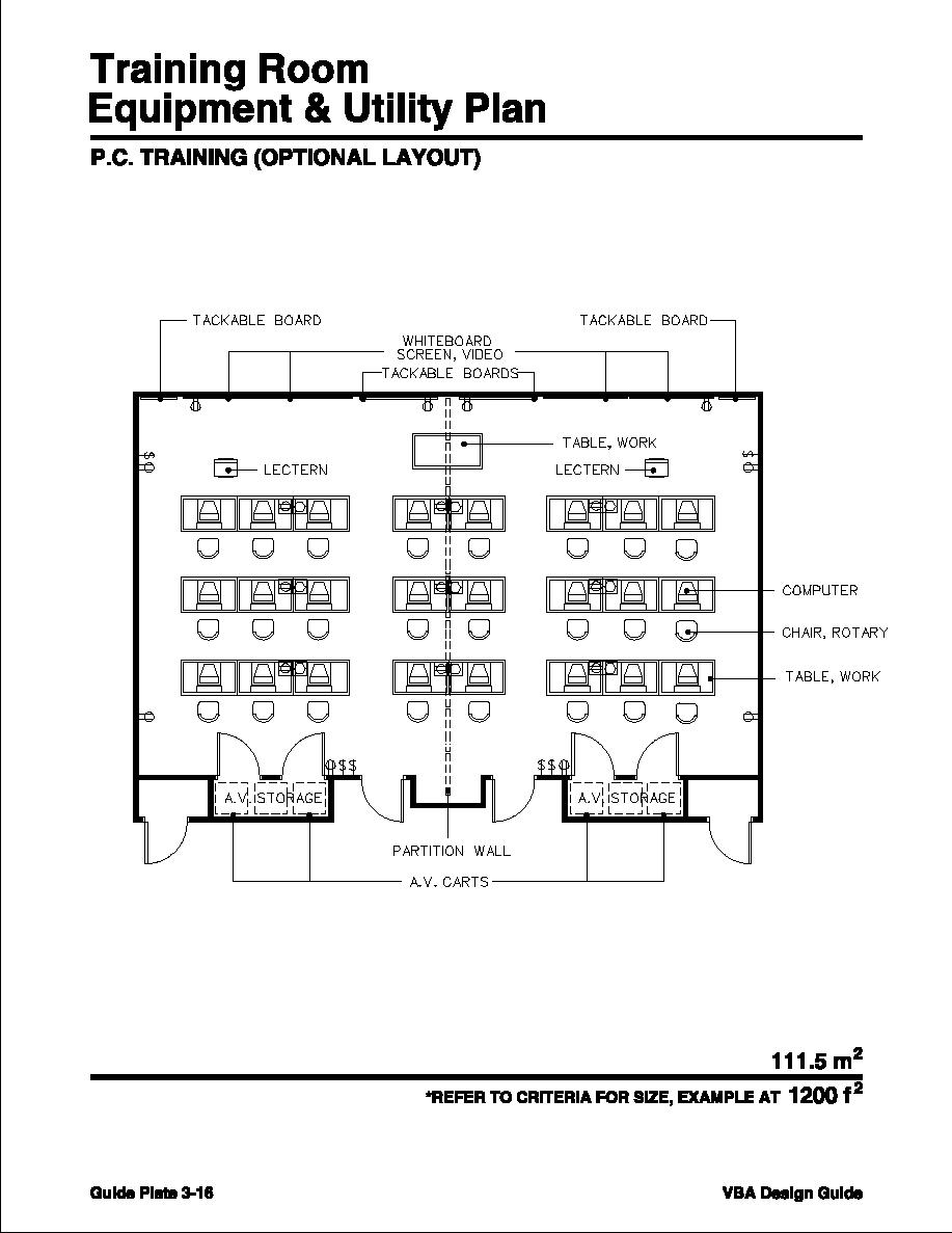 Training room p c training optional layout for Training room design layout
