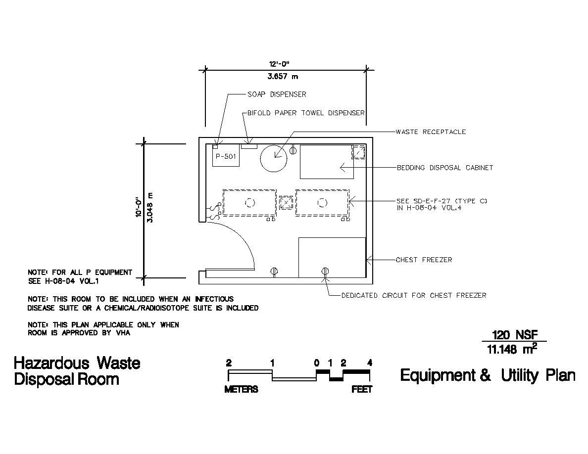 Hazardous waste disposal room for Household hazardous waste facility design